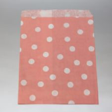 Vintage pink white dots Party bitty bags Set of 25/ Αντίκ ροζ με άσπρα πουά χαρτινα σακουλακια Σετ των 25